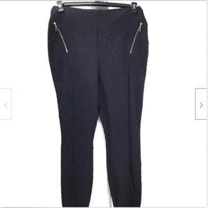 INC Women Zip Skinny Leg Pants Black Sz 8